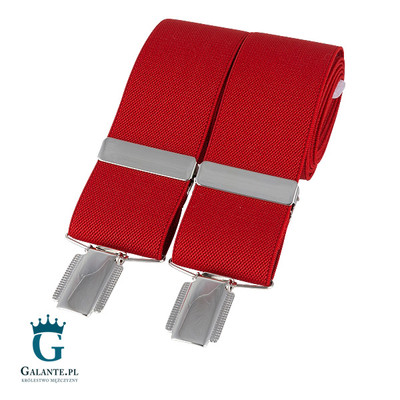 szelki do spodni czerwone