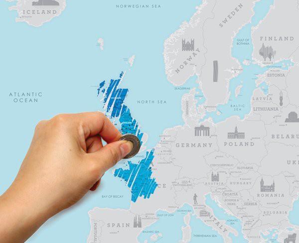 mapka zdrapka Europa