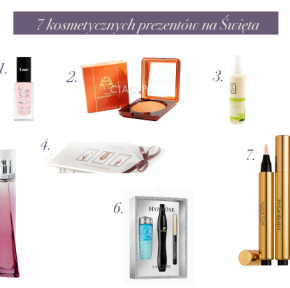 Prezentuję 7 kosmetycznych prezentów na Święta