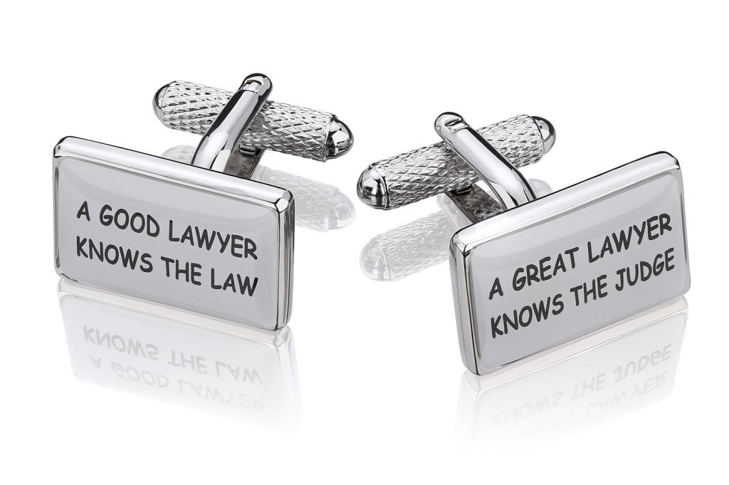 spinki do mankietów dla prawnika