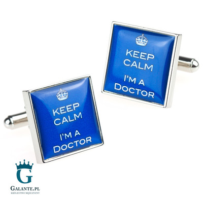 spinki do mankietów dla lekarza