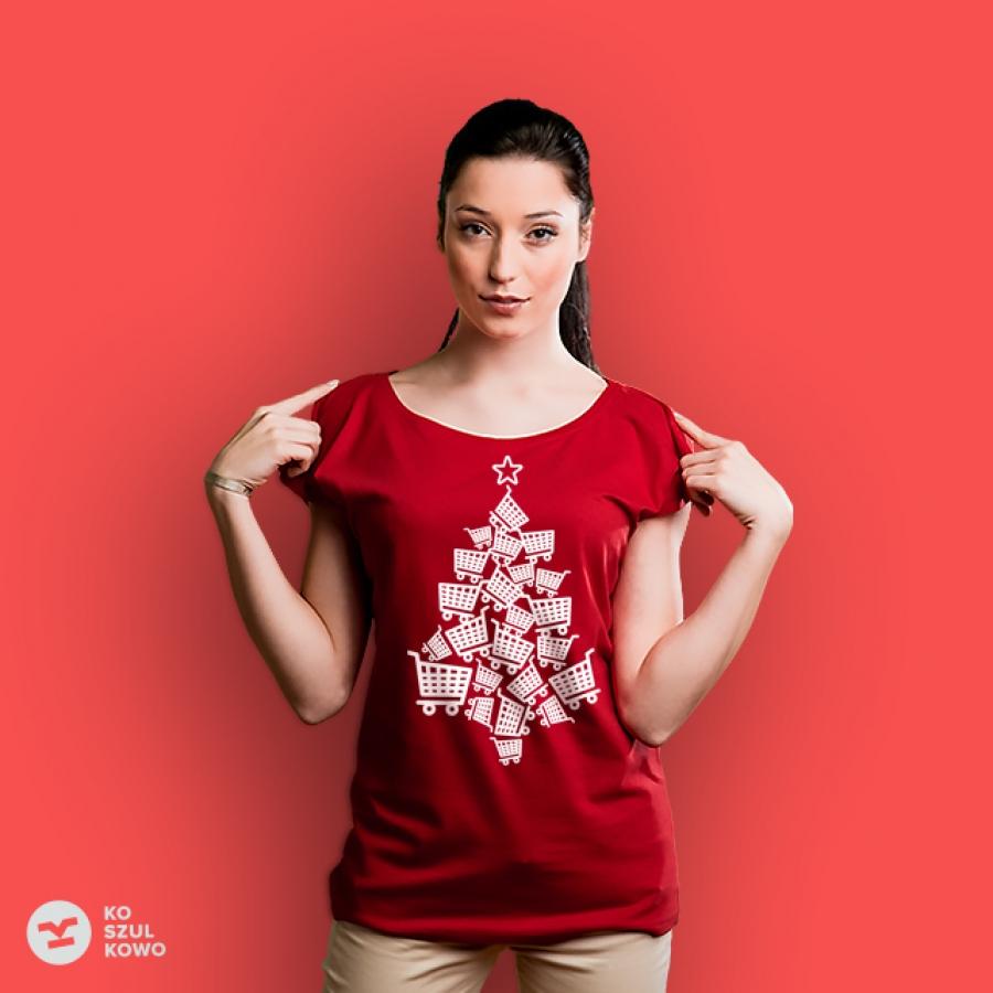 koszulka choinka zakupowa
