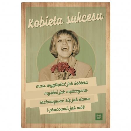 tabliczka kobieta sukcesu
