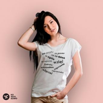 koszulka damska wyrazy klopotliwe