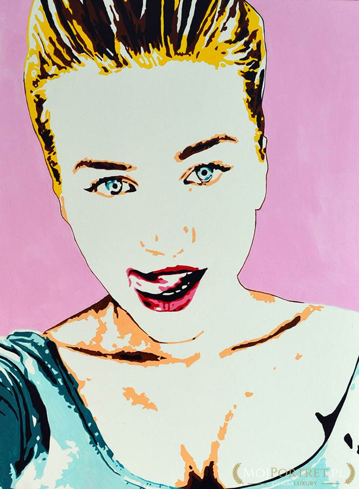 portret pop art